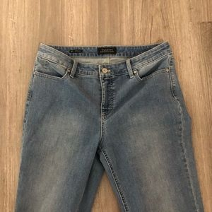 Talbots Flawless Light wash straight jean- 10